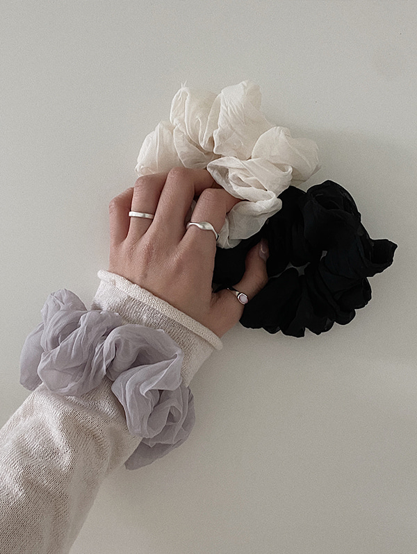 organza scrunchy - 3color